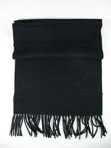 UOMO sciarpa nero inverno 100% lana cotta tinta unita GIANFRANCO FERRE 0441