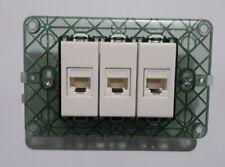 3 presa di rete dati rj45 cat6 vimar plana bianco con supporto e viti