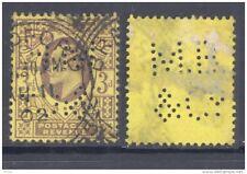 GB-PERFIN 1902, 3d, DeLaRue, perf. M B & Co (D)