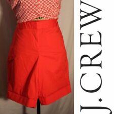 J Crew Womens Highwaisted Red Chino Shorts - Size 8