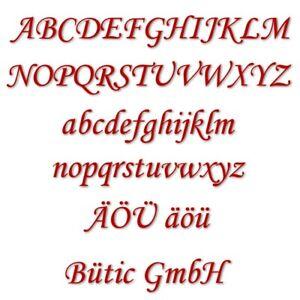 Plexiglas® Buchstaben rot - MT - 3mm Acrylglas Wunschtext/Schriftzug