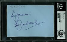 1966 England World Cup Captain Bobby Moore Signed 3.5x5 Cut Auto Graded 9! BAS