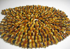 Multicolor Natural Baltic Amber Necklace 150 cm. 59inch  !!!