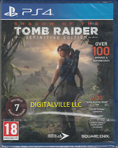 Shadow of the Tomb Raider Definitive PS4 Brand New Factory Sealed PlayStation 4