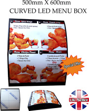 LED Curved Menu Box + Back_lit Photo Restaurant Take away High Quality