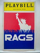 RAGS Playbill TERESA STRATAS / LARRY KERT / JUDY KUHN Previews FLOP NY 1986