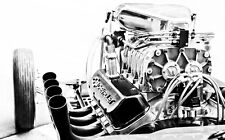 CHEVROLET CORVETTE ENGINE NEW A4 POSTER GLOSS PRINT LAMINATED