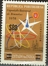 Portugise India Colonial World Expo in Bruxelles stamp 1958 MLH