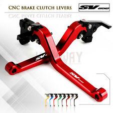 Motorbike CNC Alu Long Brake Clutch Adjustable Levers for SUZUKI SV650 16-18