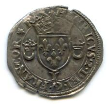 FRANCE HENRI II (1547-1559) DOUZAIN AUX CROISSANTS 1550 BOURGES