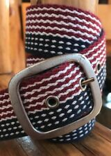 """American Eagle Outfitters Men's Red/White/Blue Cotton Belt Size 36"""""""