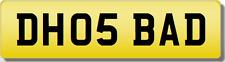 Dh dho badboy série 5 530 520 private précieux numéro d'immatriculation plaque