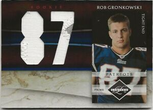 2010 Limited Rob Gronkowski RPA Numbers Patch RC 02/10 Tampa Bay Buccaneers