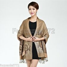 New Women's Fashion Camel 100% Cashmere Pashmina Soft Warm Wrap Shawl Scarf