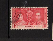 ANTIGUA 1937 1d RED CORONATION - NICE USED