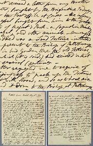 1834 Jane Porter original letter VENEZUELAN HEIR for bishop's ancient TORTOISE