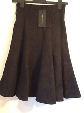 BNWT 100% auth Dolce & Gabbana Luxury Jacquard Black skirt. 36 / 6-8 RRP £590