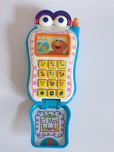 Sesame Street Elmos World Flip Phone Tested Working 2002 Vintage