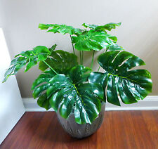 "15"" Tall Artificial Turtle Leaves Palm Small Bush (12 stems)"