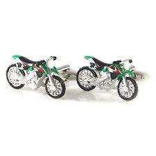 Novelty Dirt Bike Cufflink Mulit Color Painted Bike Cufflink In Box 0806