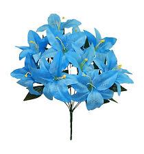 12 Tiger Lilies  MANY COLORS ~ Centerpieces Bride Silk Wedding Flowers Bouquets