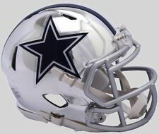 DALLAS COWBOYS NFL Riddell SPEED Full Size Replica Football Helmet CHROME