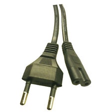 Europeos de la UE Clavija 2 Fig Figura 8 Mains Cable Lead 1.5 m Negro de la UE C7 F8 Cable
