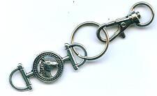 Schlüsselanhänger Gebiss m. Karabiner Keychain Bits Pferd Pferde Reiten Schmuck