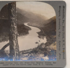 Mighty Fraser released from the Cannon Yale BC Canada Keystone Stereoview c1910