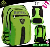 MOCHILA GAMING KEEP OUT 17 NYLON VERDE FLUOR BK7FGXL PORTATILES TABLETS EBOOK