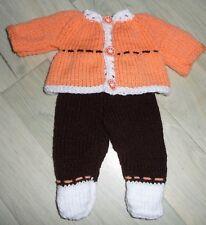 vêtements pour poupon 36 cm pull pantalon avec chaussons NEUF lavables et rés