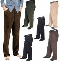 Corduroy Cord Cotton Pants Mens Formal Casual Wear Trousers Pants With Belt