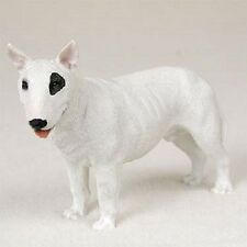 Bull Terrier dog Hand Painted Figurine Resin Statue white puppy Collectible New