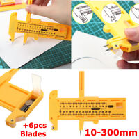 Yellow Compass Circle Cutter Includes 6 Spare Blades for Office Home Sewing !