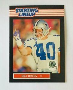 1989 BILL BATES DALLAS COWBOYS STARTING LINEUP CARD
