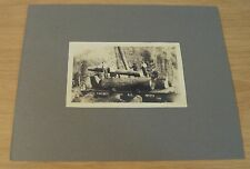 "Antique ca 1900 ART Postcard Mount~""YOSEMITE Valley RAILROAD""~Logs/Flat Car~"