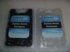 1000 New Elastic Rubber Bands Ooak Hair Redo Item Attachment~*~ Black & Clear