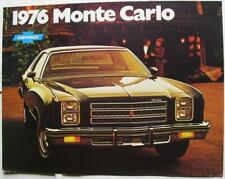 CHEVROLET Monte Carlo 1976 Sales Brochure Sep 1975 USA