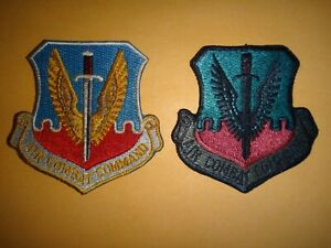 2 US AIR Force Color Patches: AIR MOBILITY COMMAND