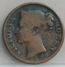Straits Settlements - East India Company 1/2 cent half cent 1845. KM# 2. Rare!