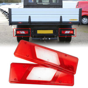 Pair Tail Light Lens Back Lamp Cover For Ford Transit MK8 2014-On Tipper Pickup