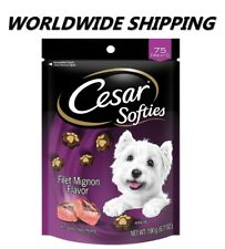 Cesar Softies Dog Treats Filet Mignon Flavor 6.7 Oz 75 Ct WORLDWIDE SHIPPING