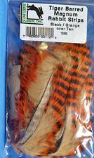 Tiger Barred MAGNUM Rabbit Strips TSM2 Black Barred Orange over Tan