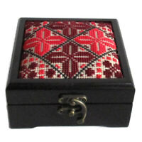 Traditional Hand embroidery box Wooden Storage Jewelry Home Decor Hand Made