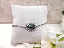 °°° Juwelo Hämatit Markasite Silber Armband 925 Sterling Silber Zertifikat