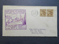 US 1932 SS Manhattan Cacheted Paquebot Cover  - Z7956