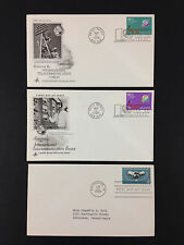 United Nations FDC First Day Cover Cachet 1965 Telecommunications Union + LOT X3