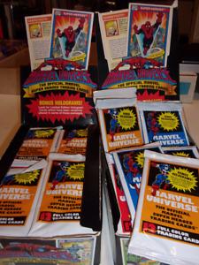 Marvel Universe Impel 1990 extra Full Box 75 unopened packs