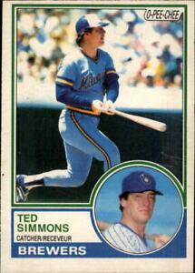 1983 O-Pee-Chee Milwaukee Brewers Baseball Card #284 Ted Simmons
