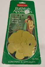 Vintage 1978 Rubbermaid Bathtub Non Slip Appliques 16 Gold Flowers NEW-OLD-STOCK